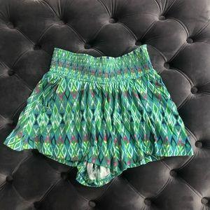 Tropical Print Flowy Shorts